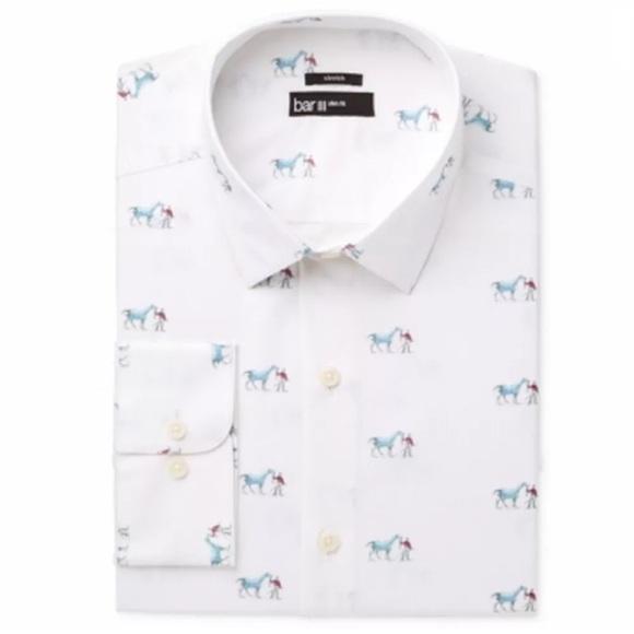 1fb4f148602b Bar III Shirts | White Stretch Slimfit Dressshirt 16 12 | Poshmark